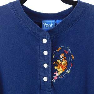 Disney Winnie the Pooh Long Sleeve Shirt Navy Med